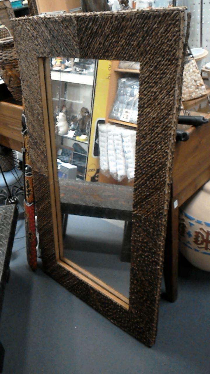 miroir encadrement bois de cafeier d 39 occasion. Black Bedroom Furniture Sets. Home Design Ideas