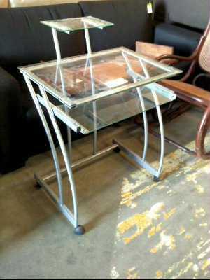 bureau informatique verre d 39 occasion. Black Bedroom Furniture Sets. Home Design Ideas