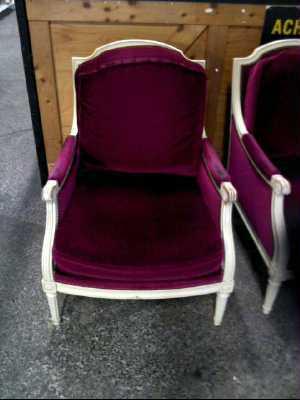 fauteuil style louis xvi la paire d 39 occasion. Black Bedroom Furniture Sets. Home Design Ideas