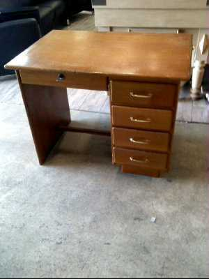 bureau vintage annees 60 d 39 occasion. Black Bedroom Furniture Sets. Home Design Ideas
