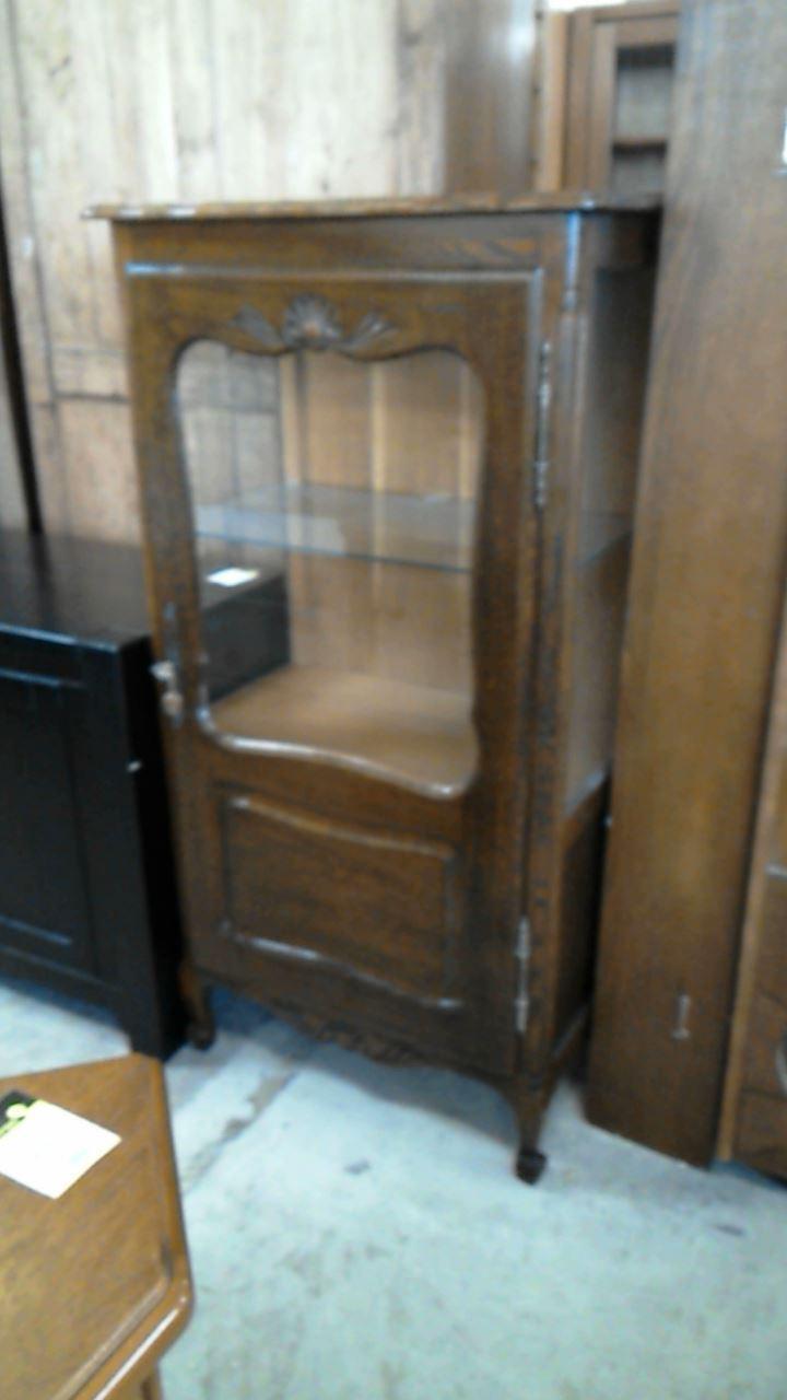vitrine vitre chene cle d 39 occasion. Black Bedroom Furniture Sets. Home Design Ideas