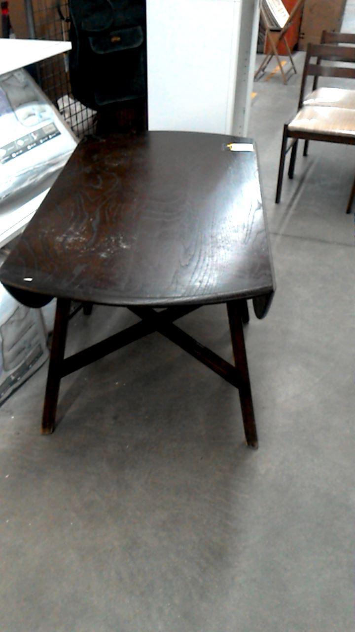 table a volets pieds croises d 39 occasion. Black Bedroom Furniture Sets. Home Design Ideas
