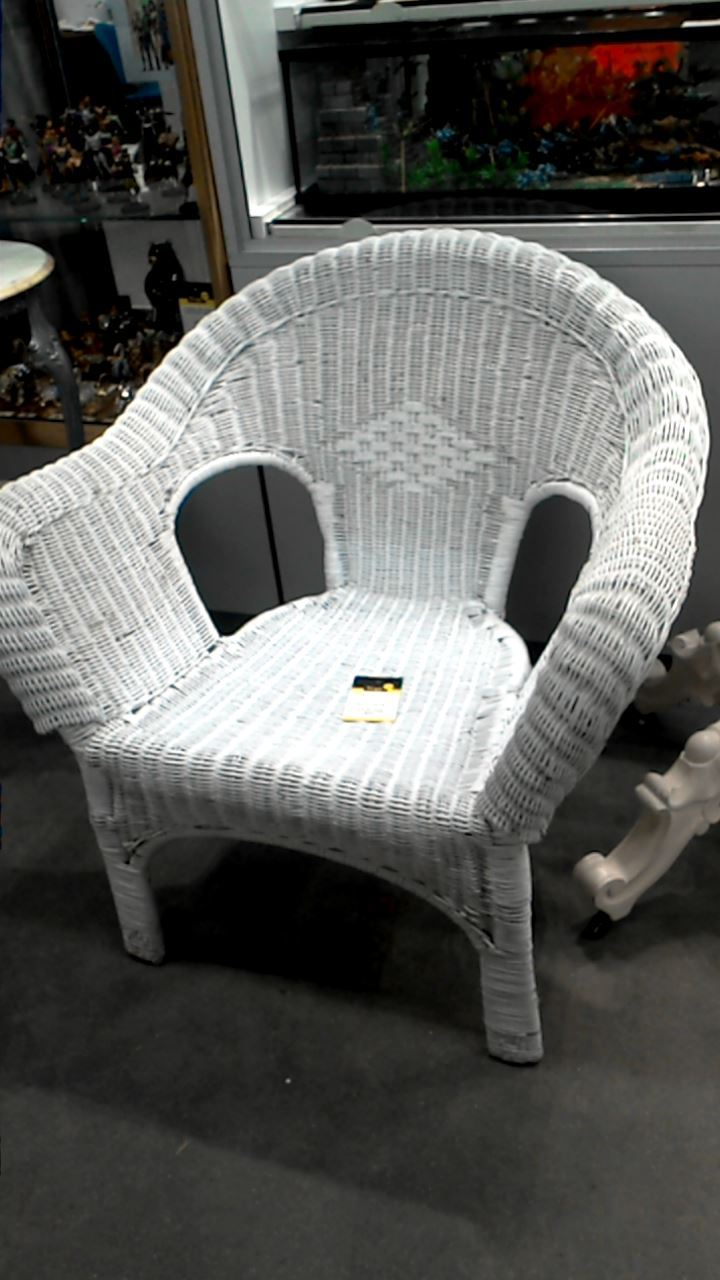 fauteuil osier blanc d 39 occasion. Black Bedroom Furniture Sets. Home Design Ideas