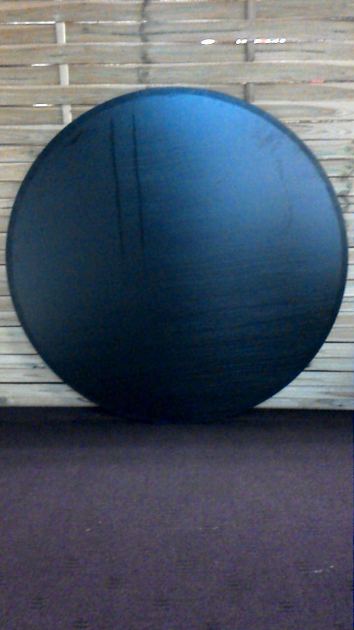 plateau noir rond pour table d 39 occasion. Black Bedroom Furniture Sets. Home Design Ideas