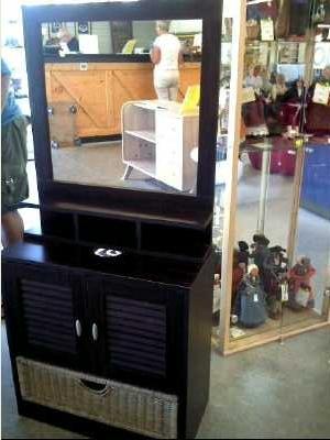 Meuble salle de bains miroir d 39 occasion for Recherche meuble de salle de bain d occasion