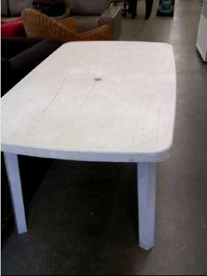 Table de jardin pvc blanc d 39 occasion - Table de jardin en pvc ...