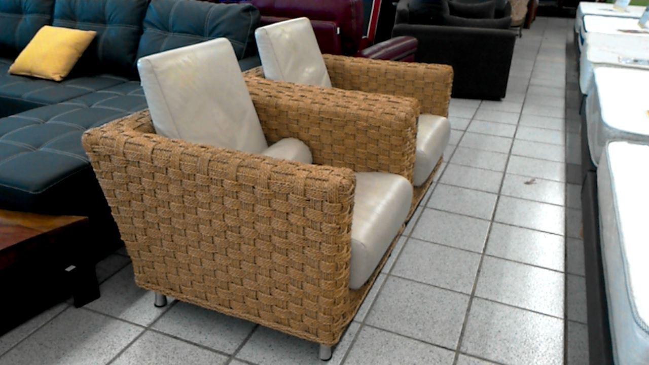 fauteuil cuir et tressage ligne roset d 39 occasion. Black Bedroom Furniture Sets. Home Design Ideas