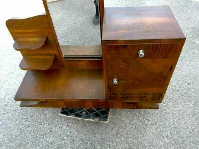 coiffeuse art deco 1 porte 1 tiroir d 39 occasion. Black Bedroom Furniture Sets. Home Design Ideas